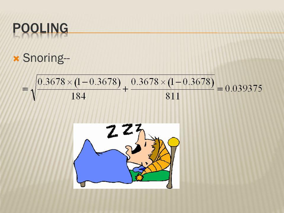 Pooling Snoring--