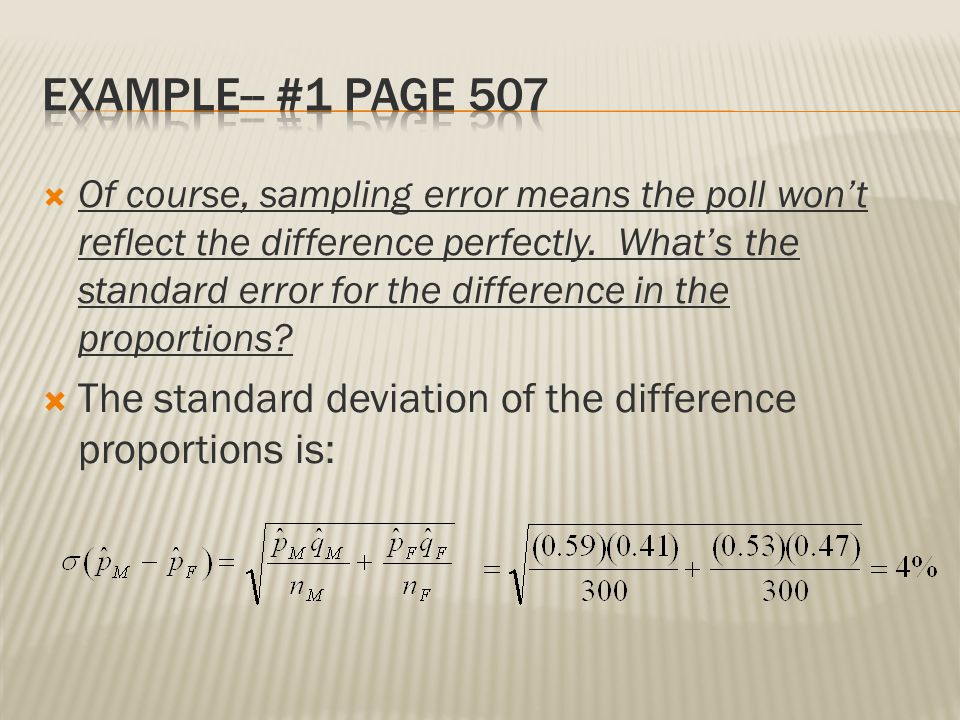 Example-- #1 Page 507