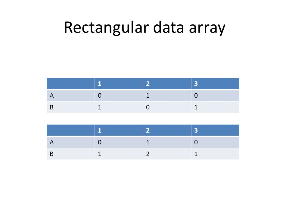 Rectangular data array