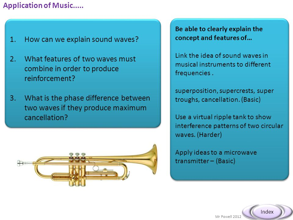 How can we explain sound waves