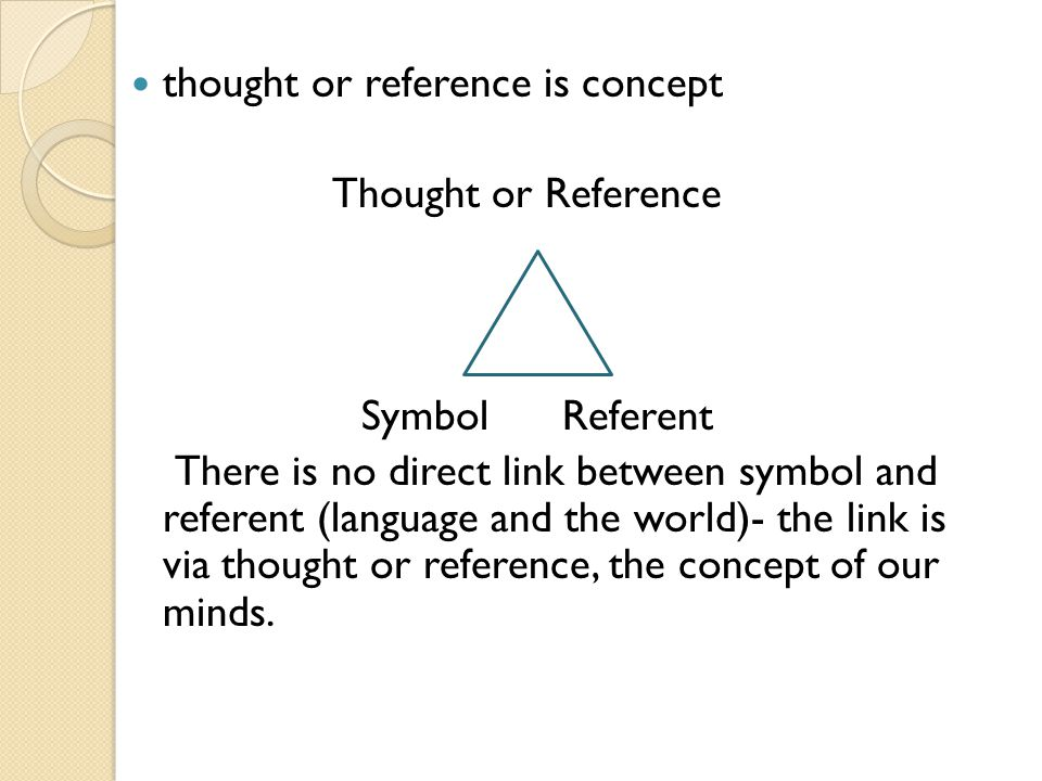 thought or reference is concept