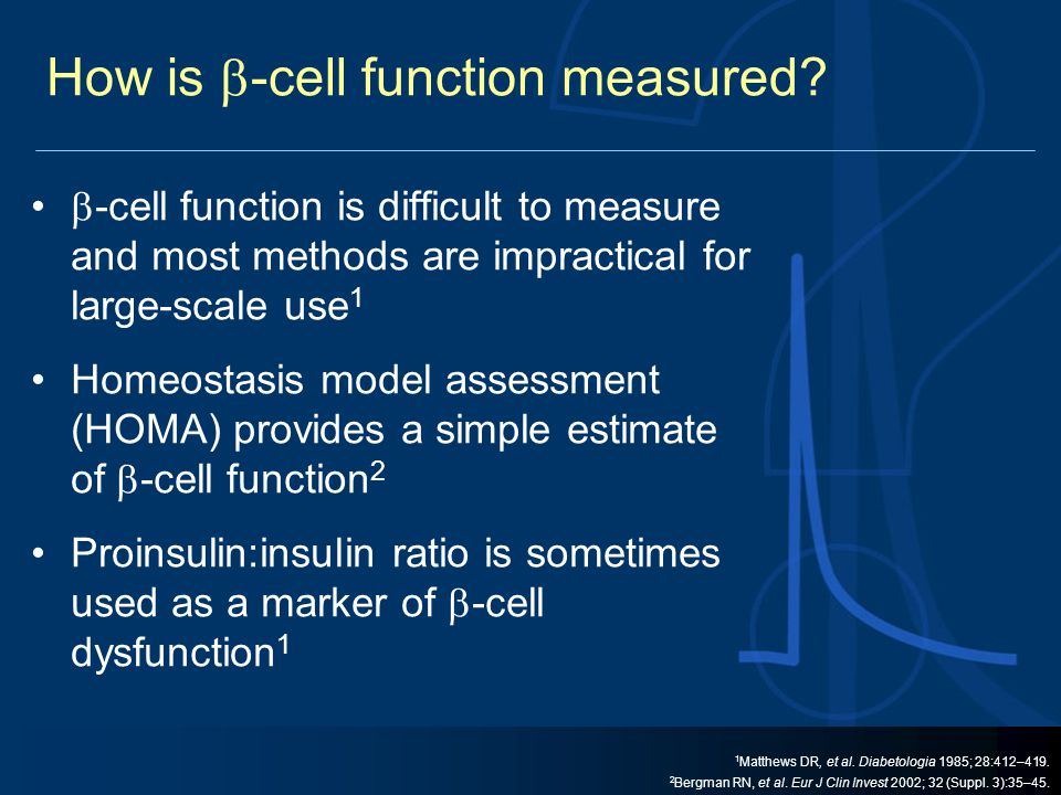 How is -cell function measured