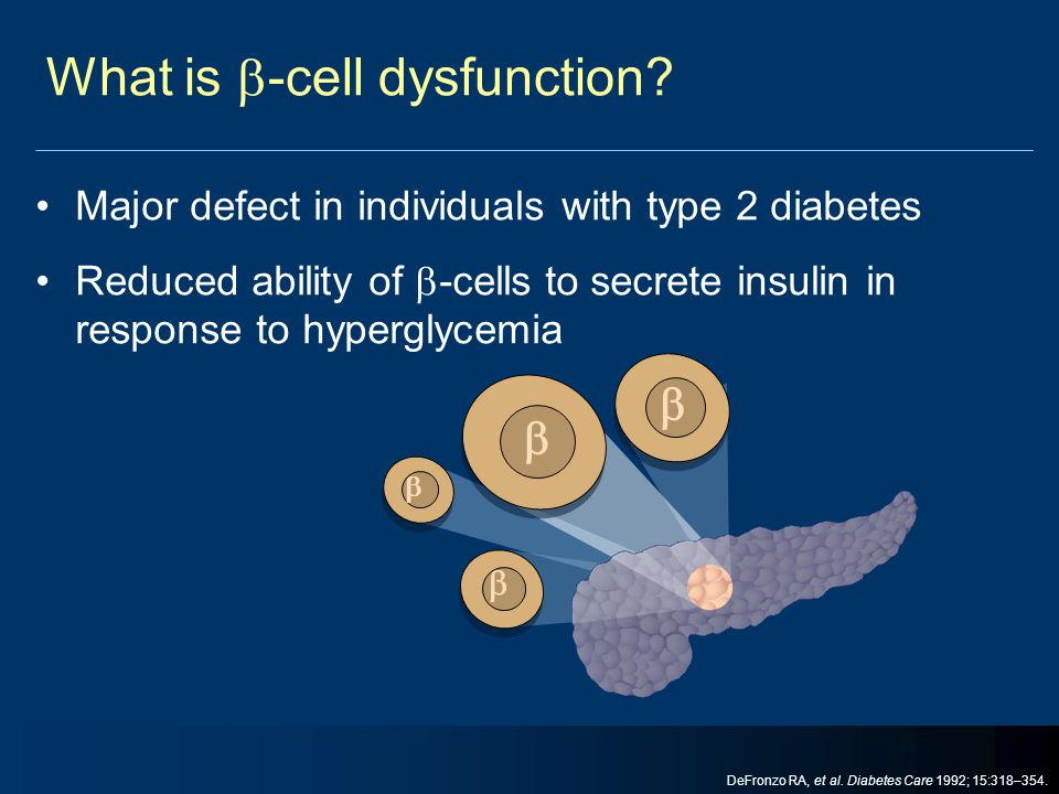What is -cell dysfunction