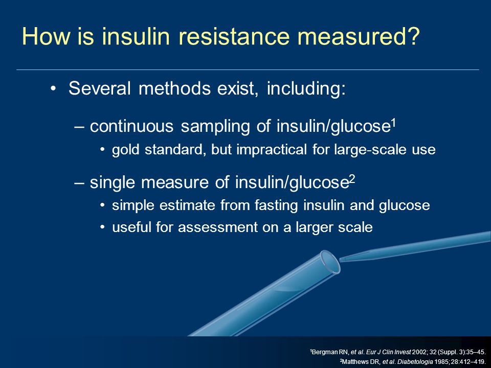 How is insulin resistance measured