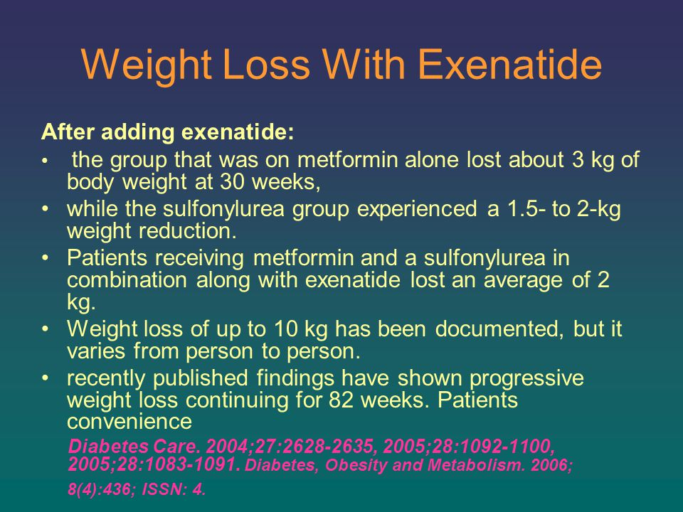 Weight Loss With Exenatide