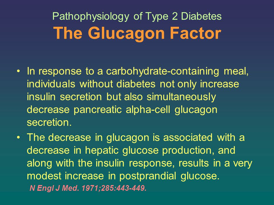 Pathophysiology of Type 2 Diabetes The Glucagon Factor