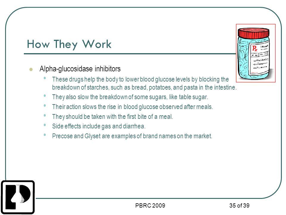 How They Work Alpha-glucosidase inhibitors