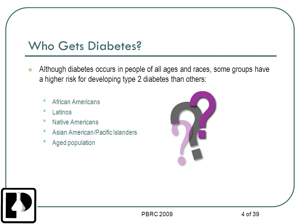 Who Gets Diabetes