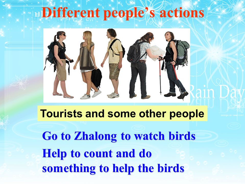 Different people's actions