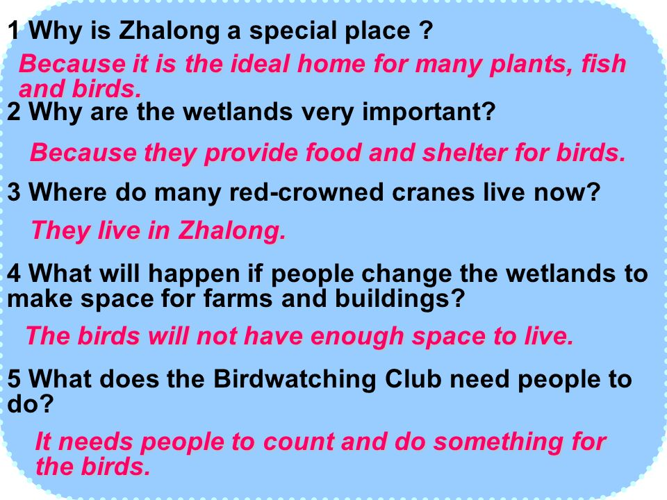 1 Why is Zhalong a special place