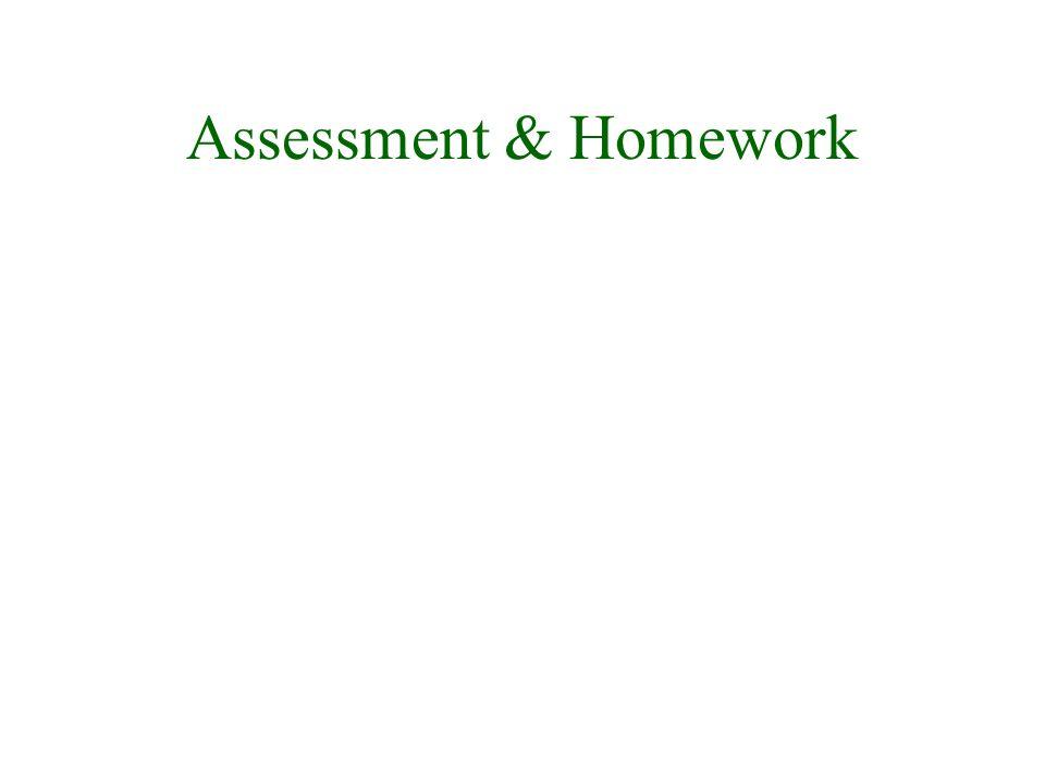 Assessment & Homework