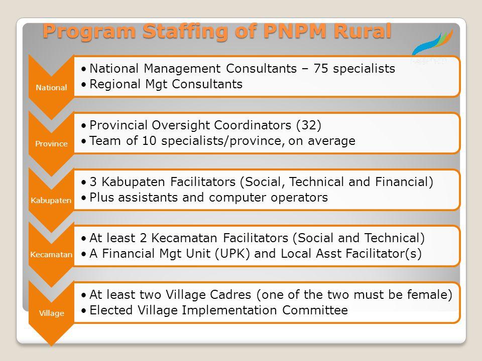 Program Staffing of PNPM Rural