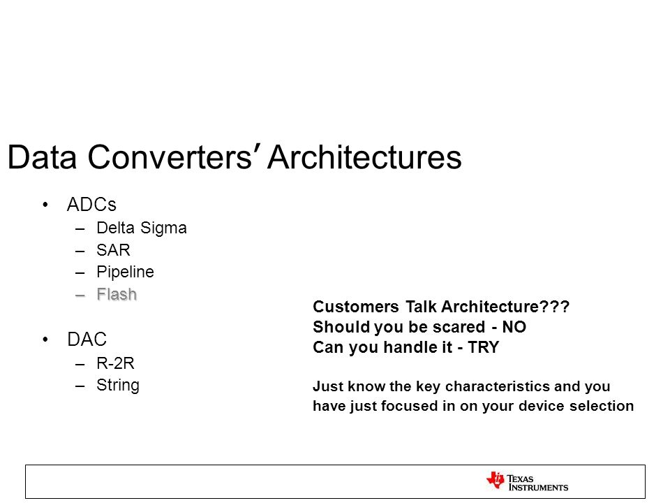 Data Converters' Architectures