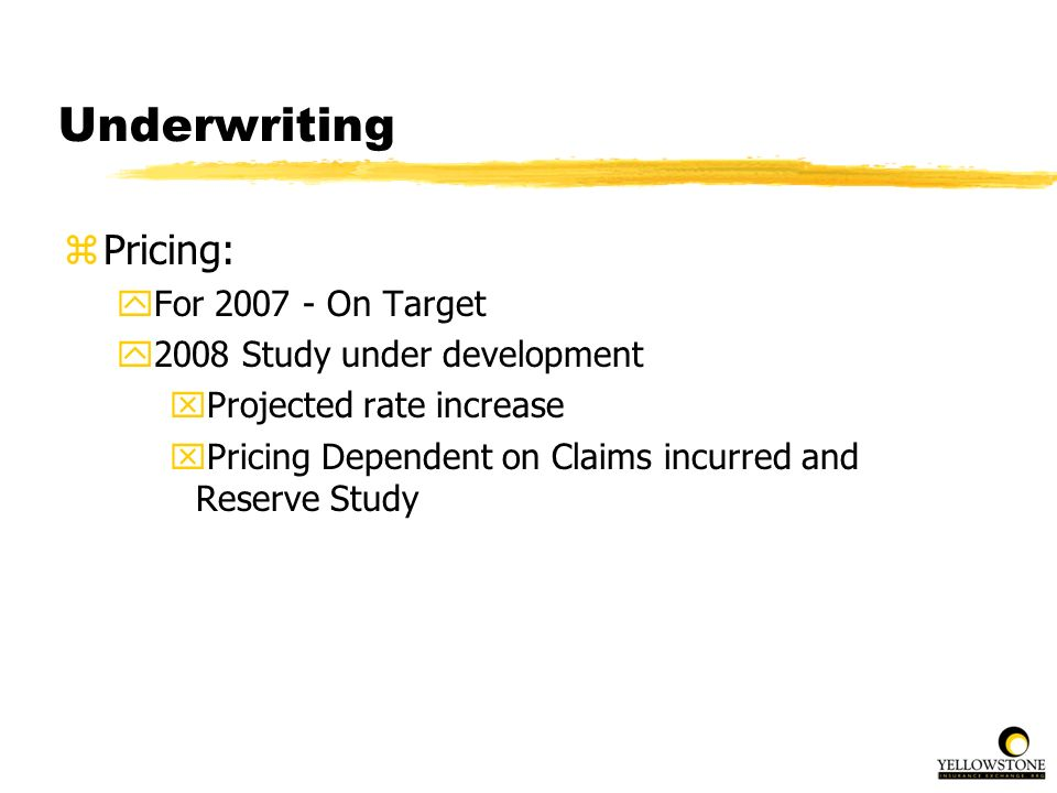 Underwriting Pricing: For 2007 - On Target