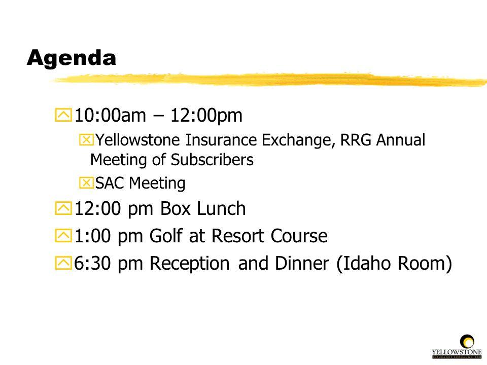 Agenda 10:00am – 12:00pm 12:00 pm Box Lunch