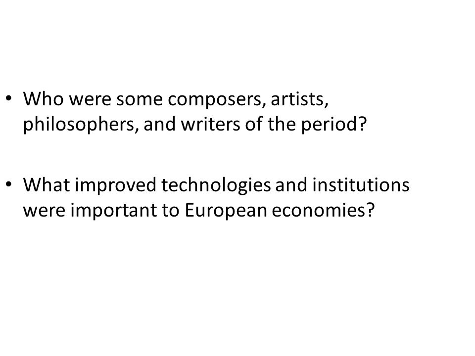 Who were some composers, artists, philosophers, and writers of the period