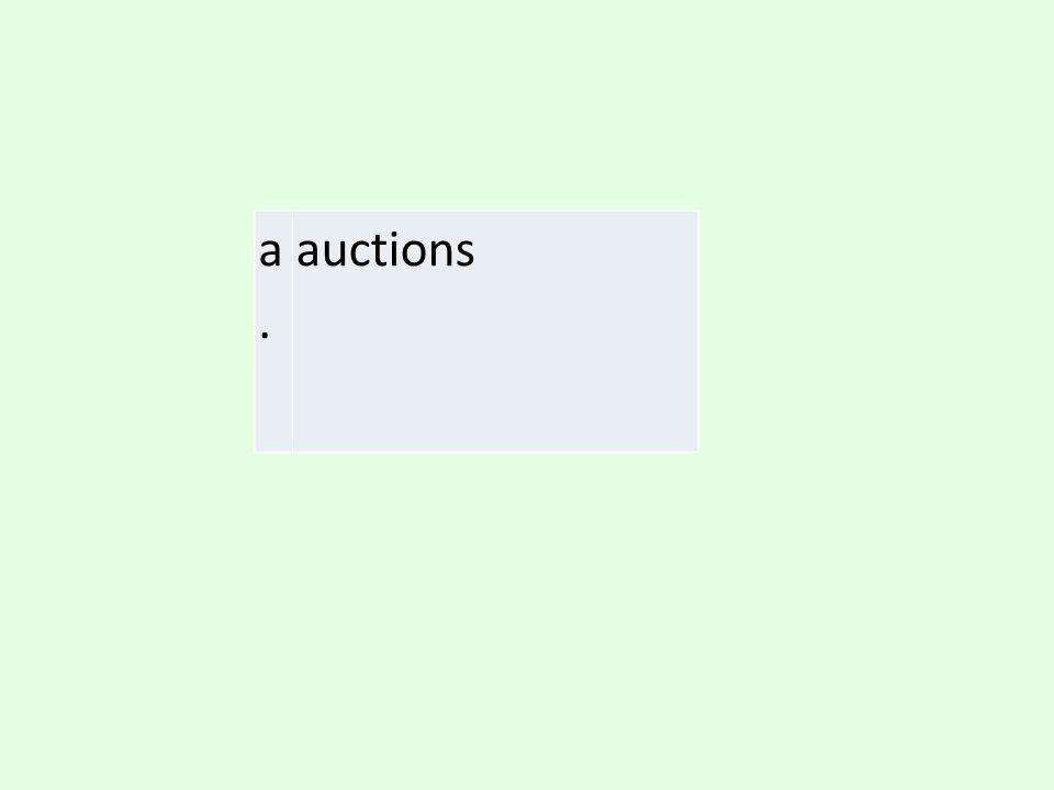 a. auctions