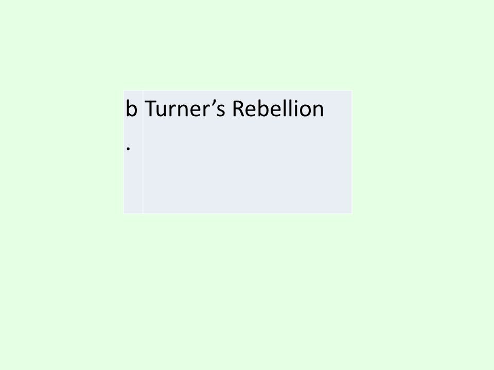 b. Turner's Rebellion