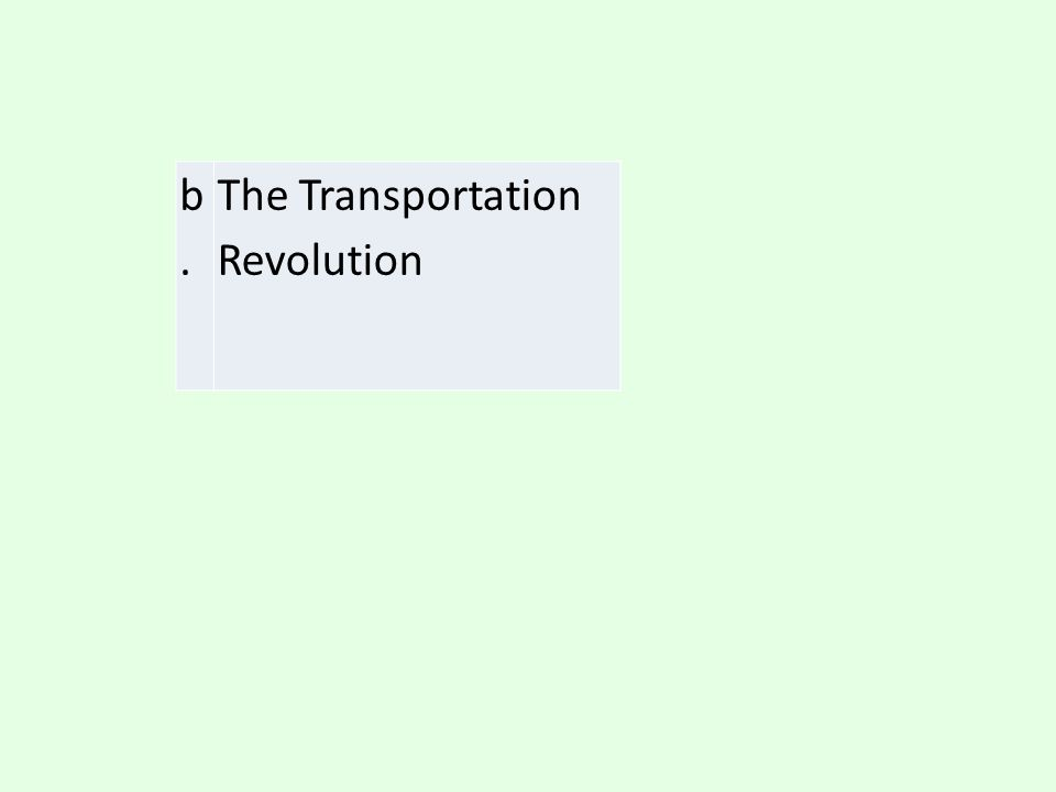 b. The Transportation Revolution