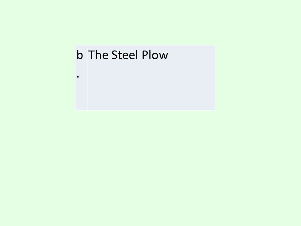 b. The Steel Plow