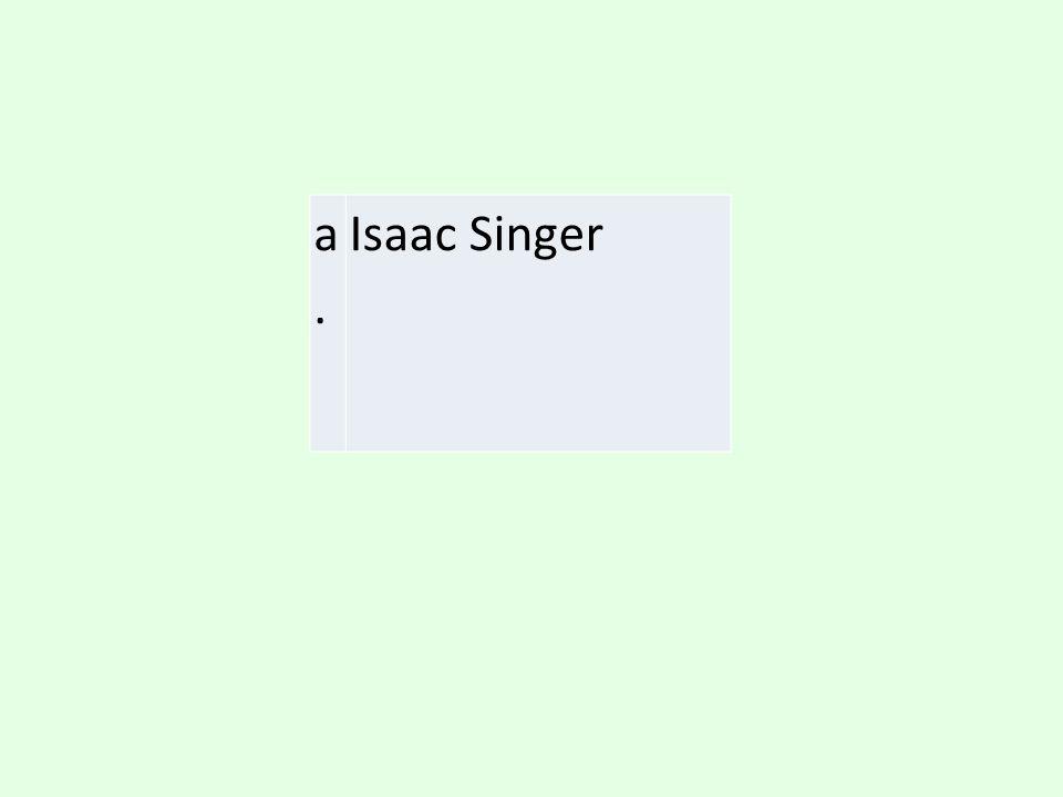 a. Isaac Singer