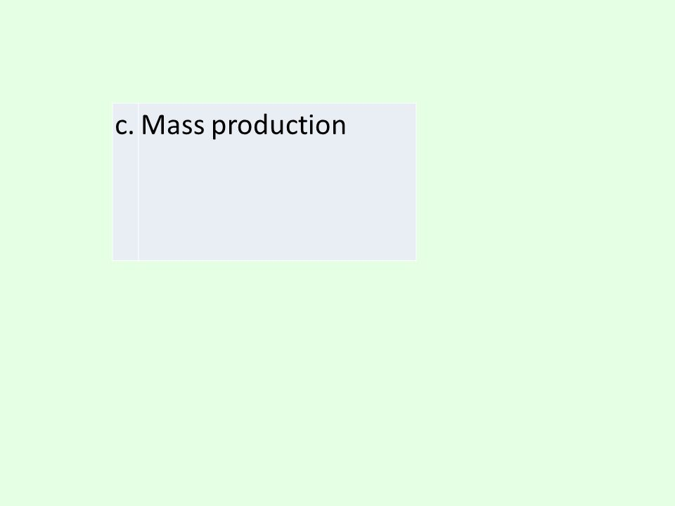 c. Mass production