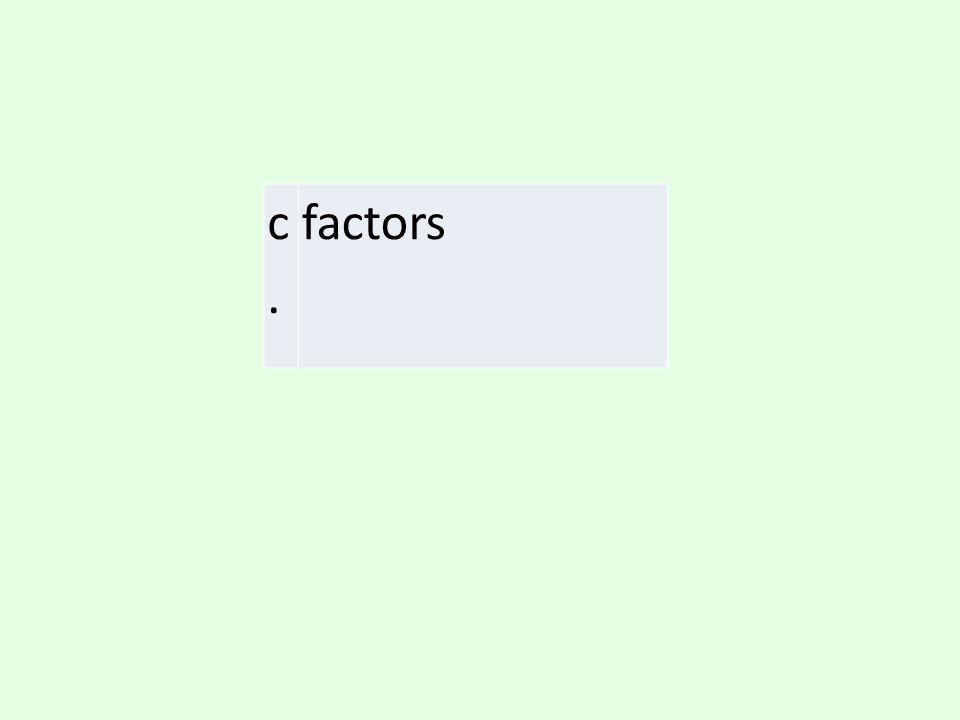 c. factors