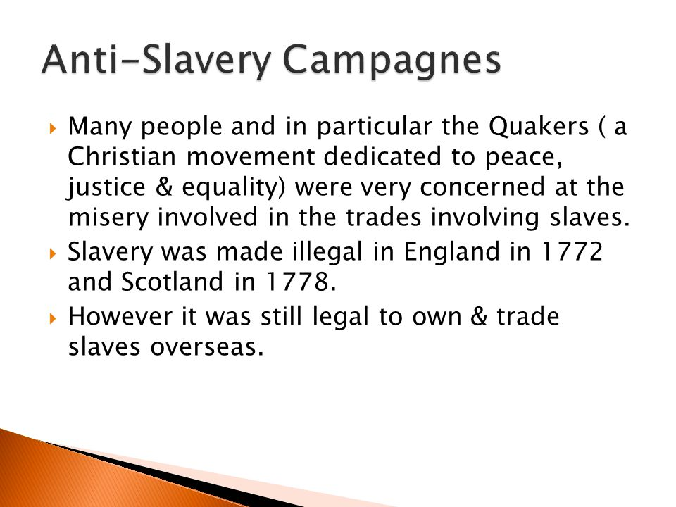 Anti-Slavery Campagnes