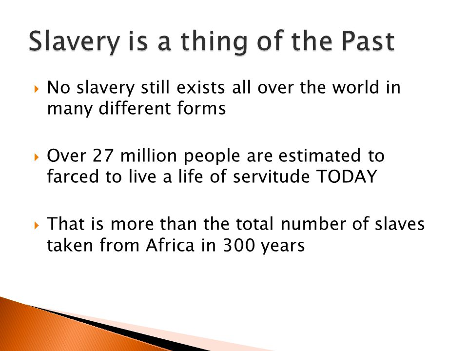 Slavery is a thing of the Past