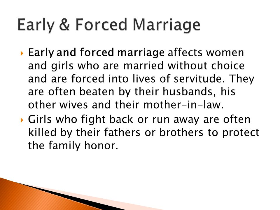 Early & Forced Marriage