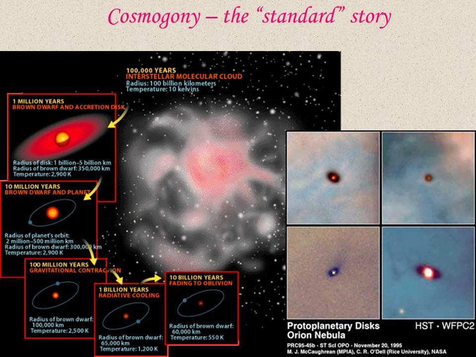 Cosmogony – the standard story