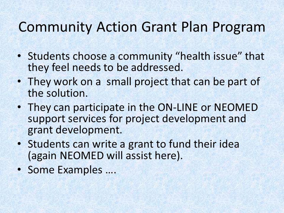 Community Action Grant Plan Program