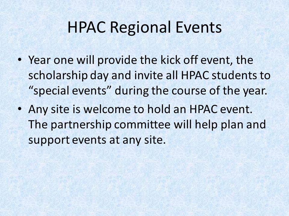 HPAC Regional Events