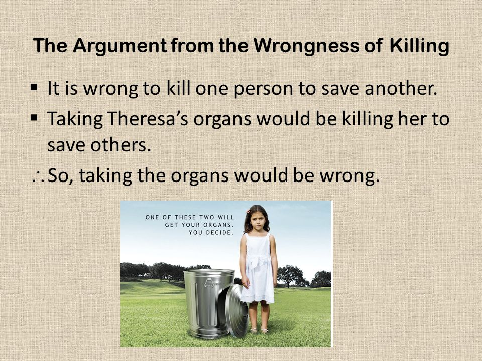 The Argument from the Wrongness of Killing