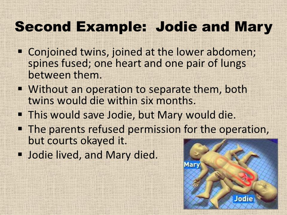Second Example: Jodie and Mary