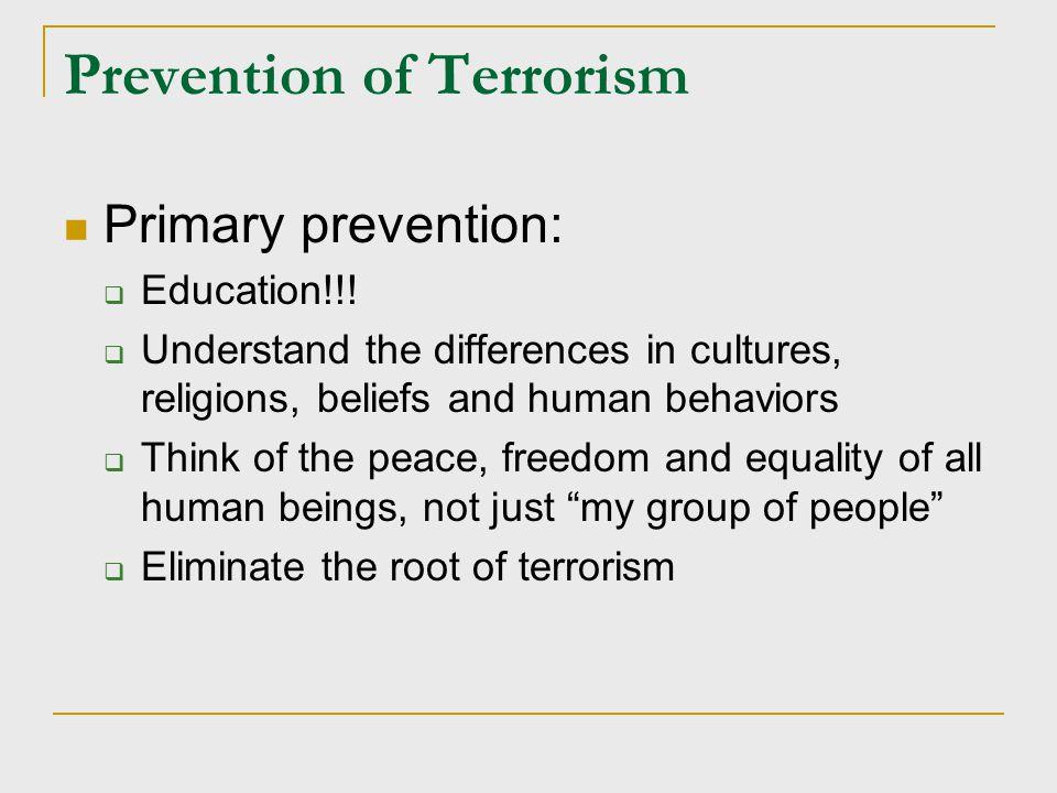 Prevention of Terrorism