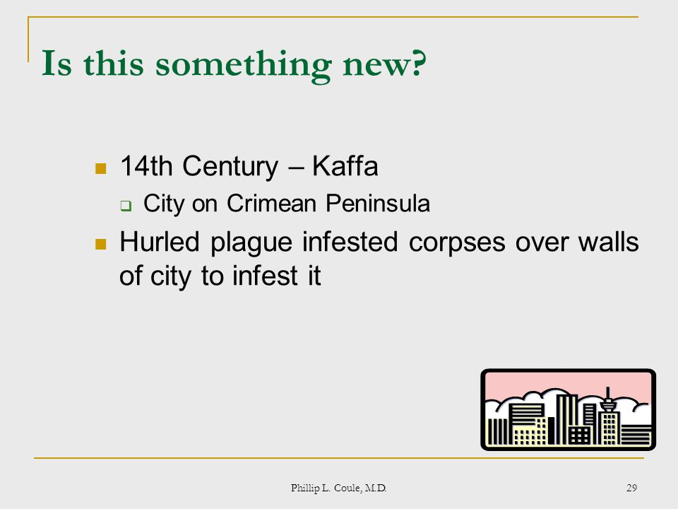 Is this something new 14th Century – Kaffa