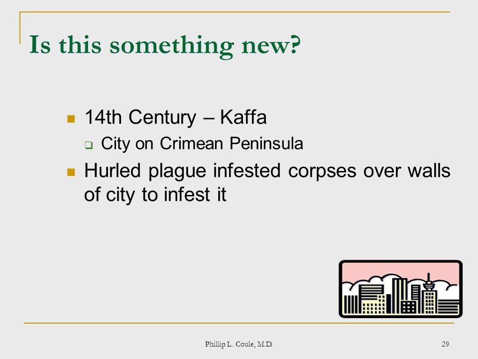 Is this something new 14th Century – Kaffa