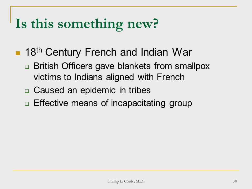 Is this something new 18th Century French and Indian War