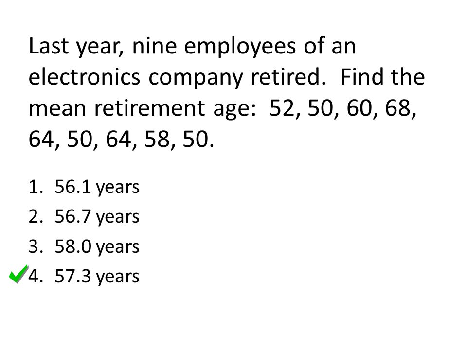 Last year, nine employees of an electronics company retired