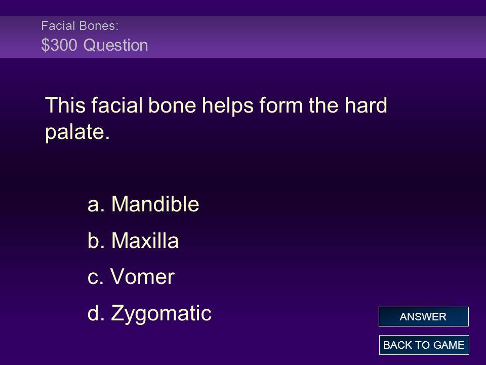 Facial Bones: $300 Question