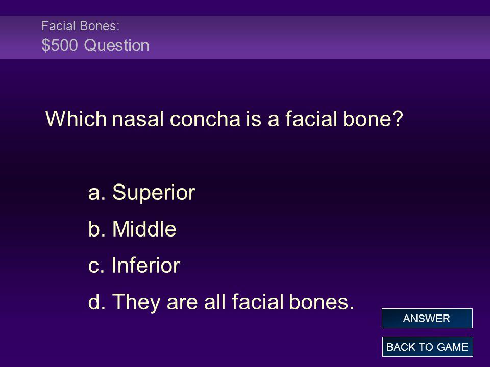 Facial Bones: $500 Question