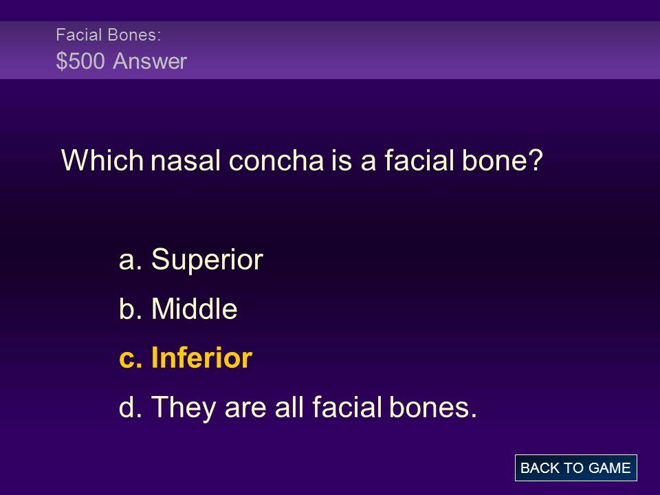 Which nasal concha is a facial bone