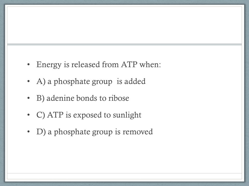 Energy is released from ATP when: