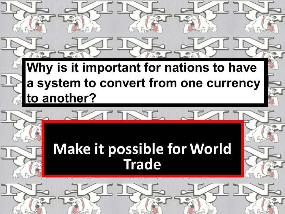 Make it possible for World Trade