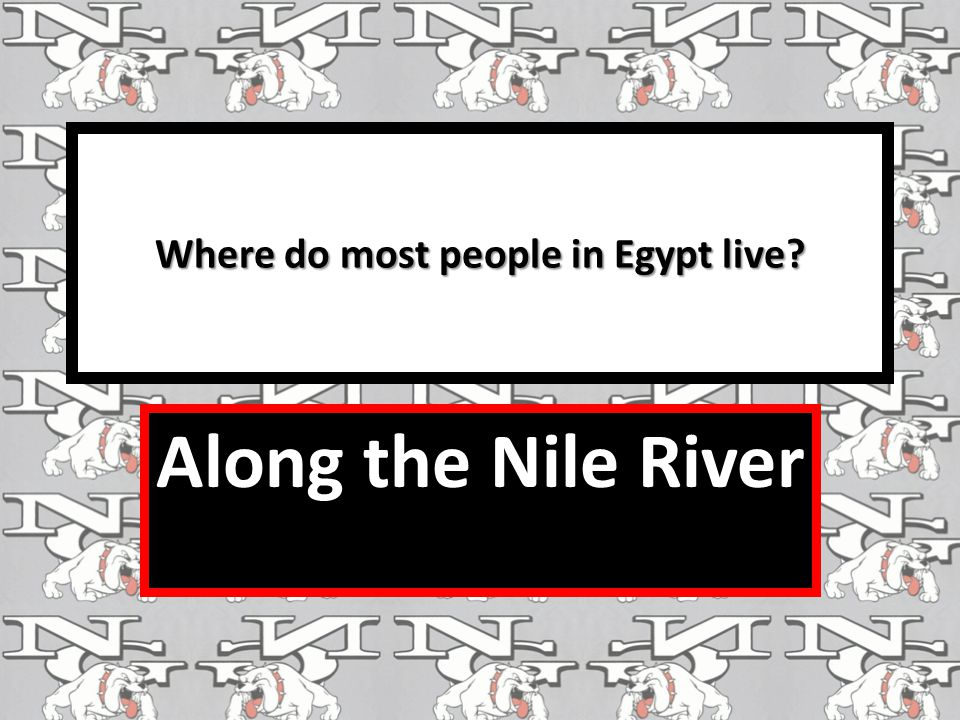 Where do most people in Egypt live