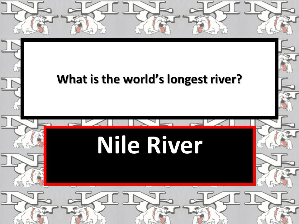 What is the world's longest river