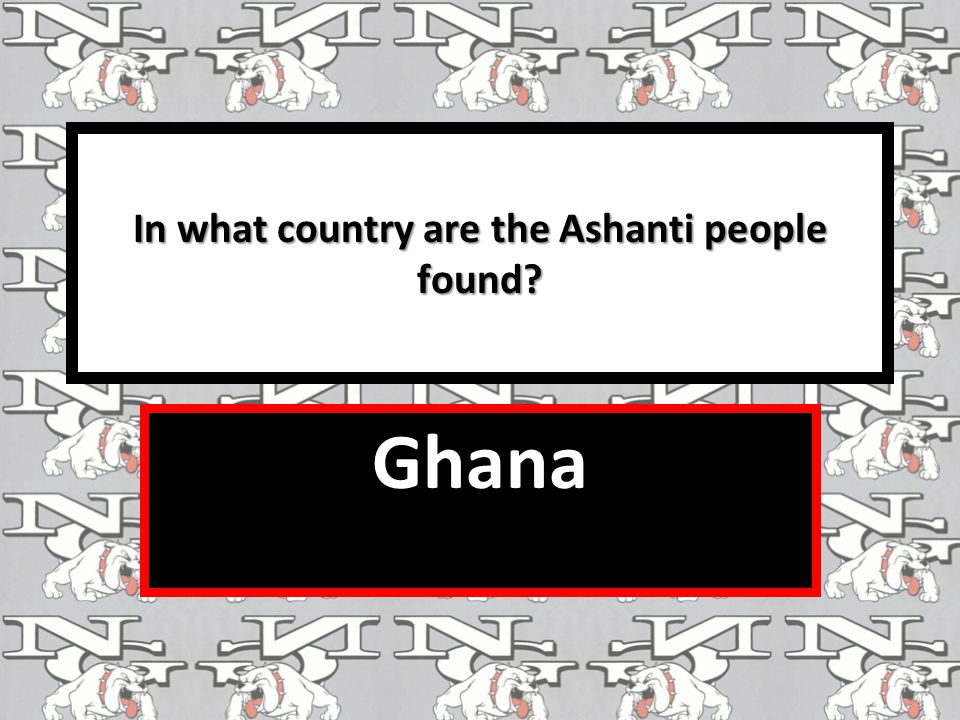 In what country are the Ashanti people found