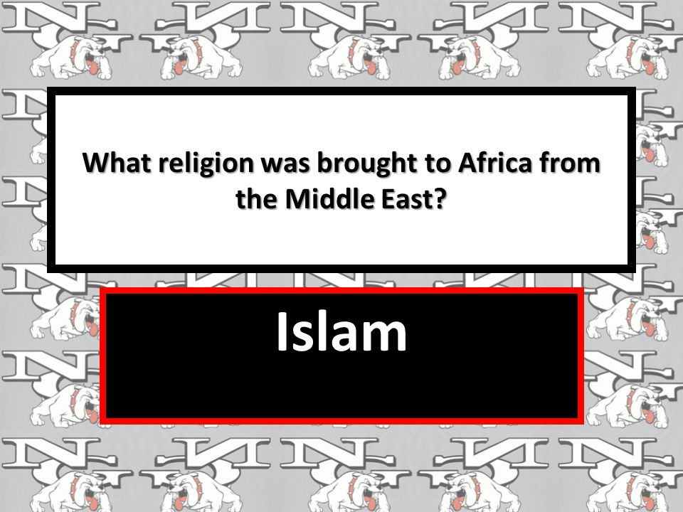 What religion was brought to Africa from the Middle East