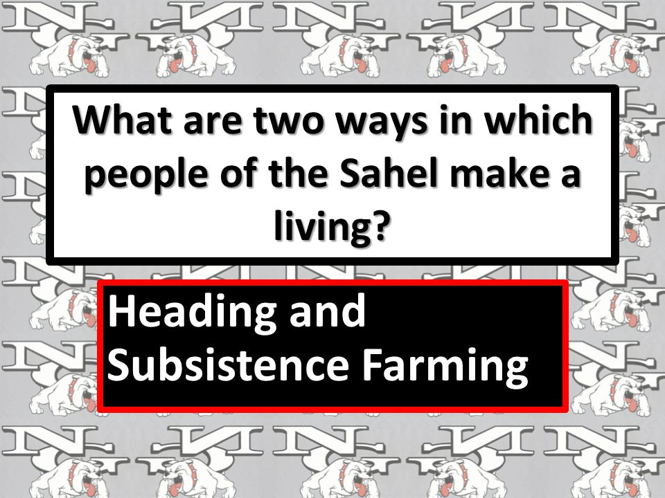 What are two ways in which people of the Sahel make a living